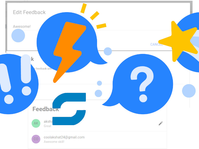 Implementing the Feedback section  on Skills CMS