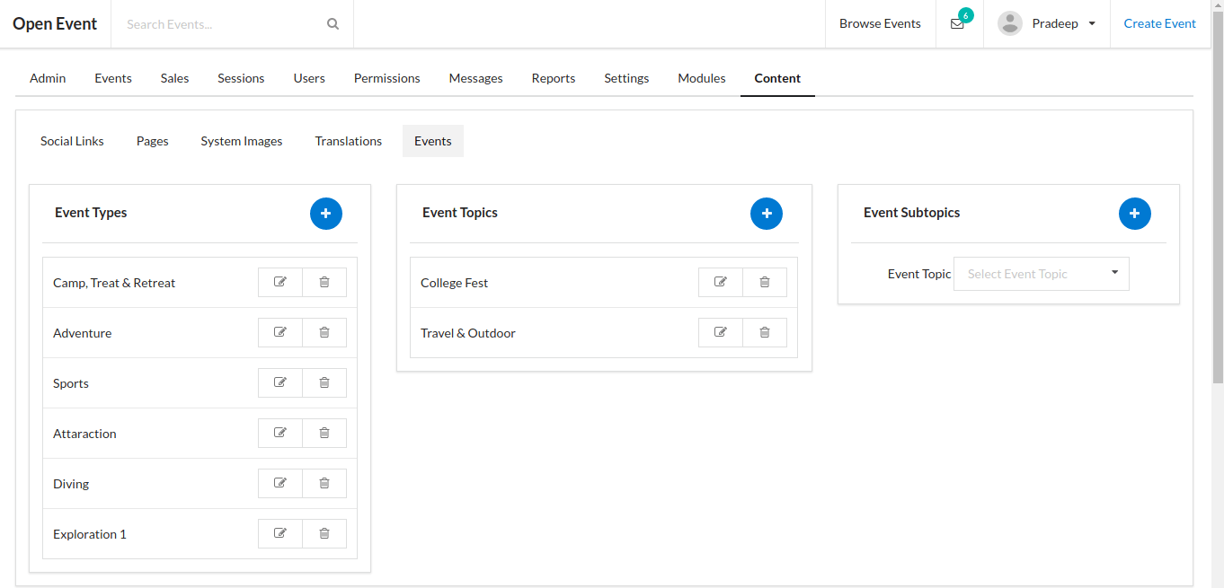 Adding Panel to Add Event Types in Admin Dashboard of Open Event Frontend