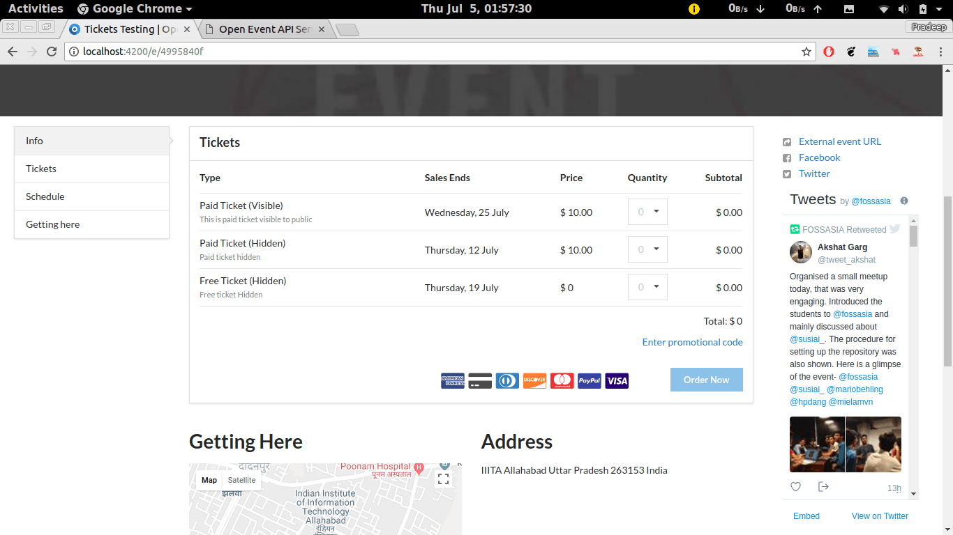 Integrating Orders API to Allow User Select Tickets for Placing Order in Open Event Frontend