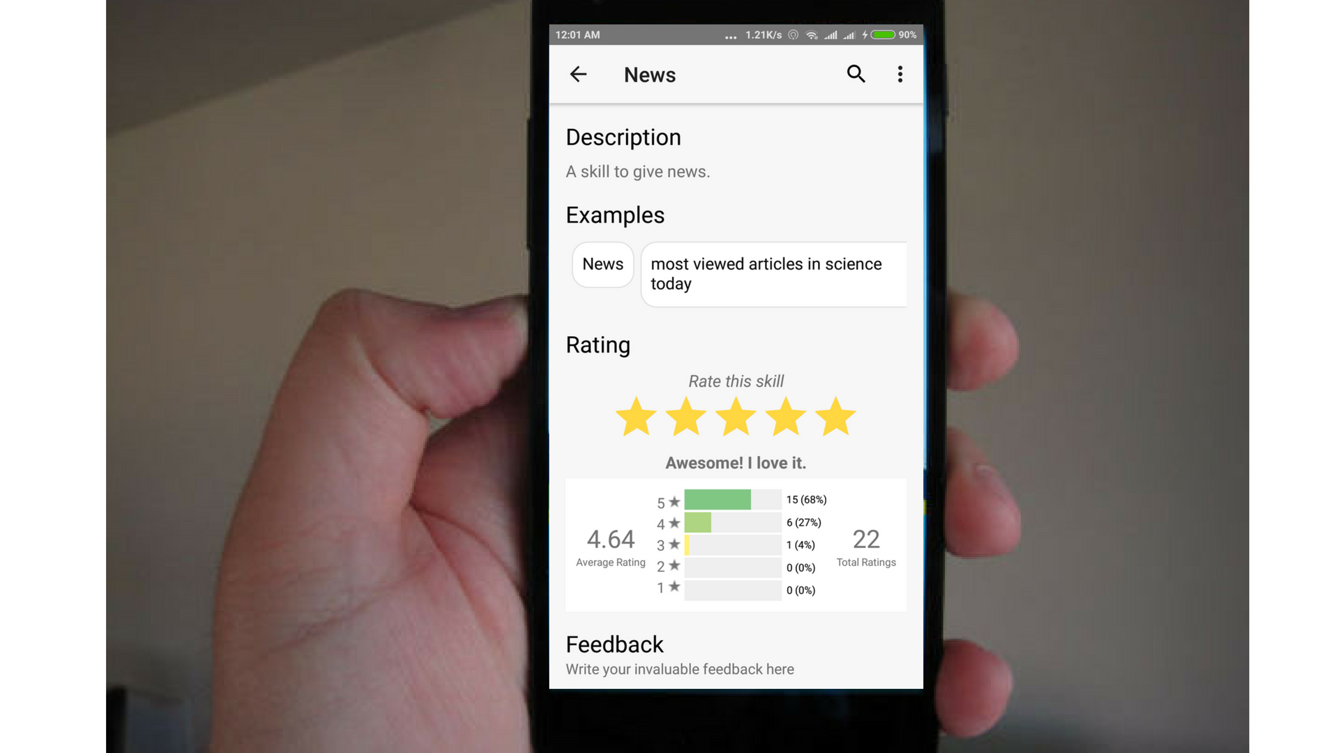 Fetch Five Star Skill Rating from getSkillList API in SUSI.AI Android