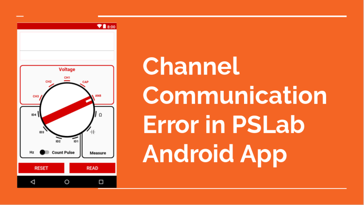 Channel Communications Error of PSLab