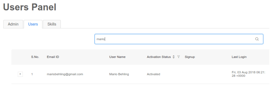 Implementing Search User Feature for Admins