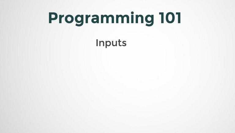 Inputs in Programming