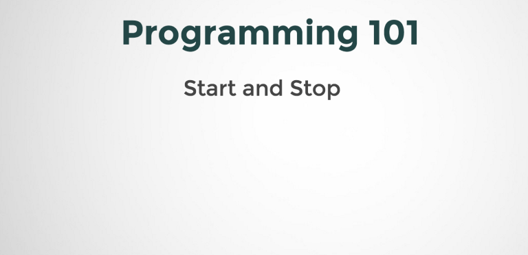 Start and Stop of a program