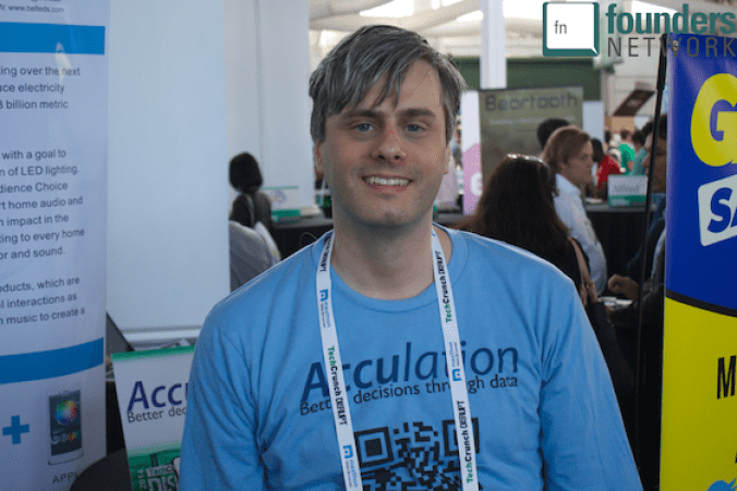 Acculation at TechCrunch Disrupt Startup Alley