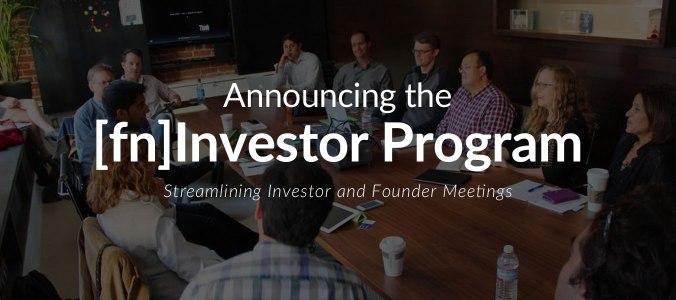 Announcing the fn Investor Program