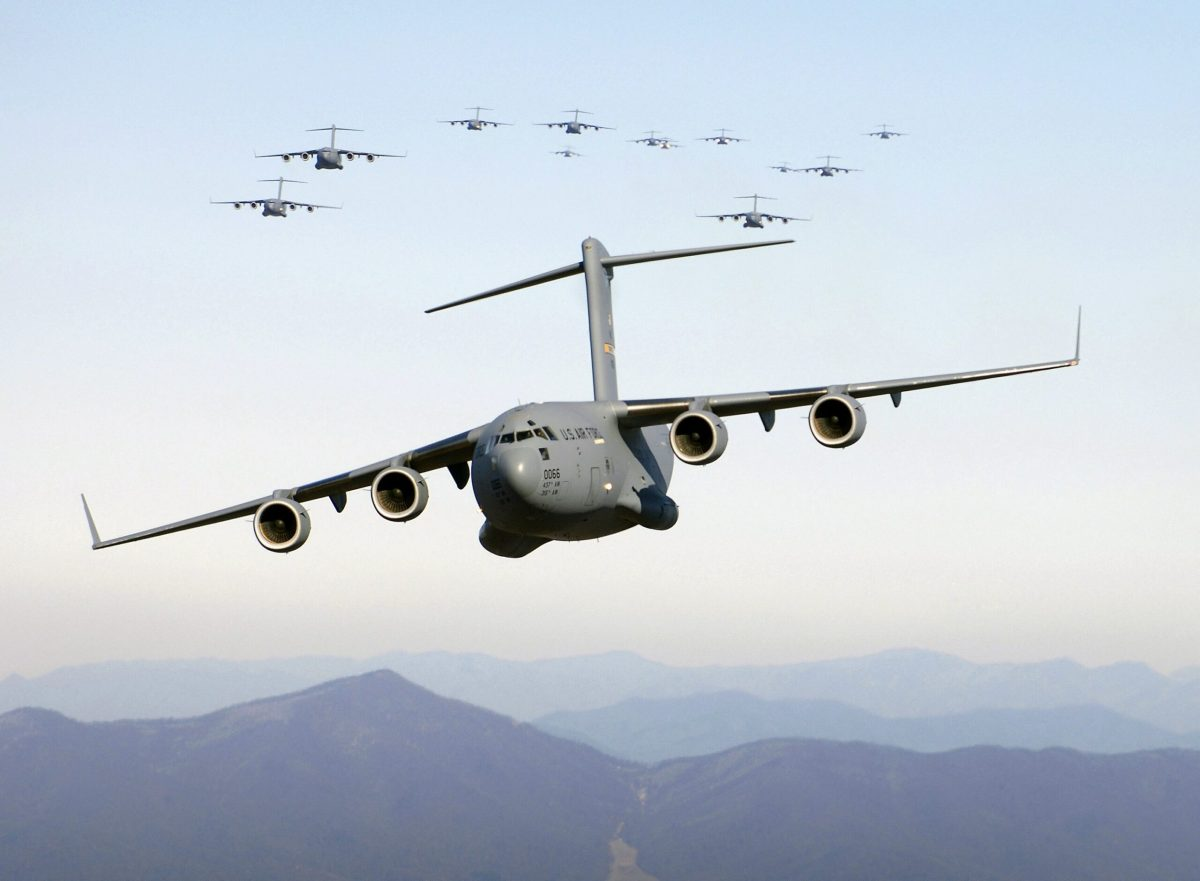 US military planes in South China Sea