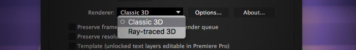 Faster After Effects: faster 3D