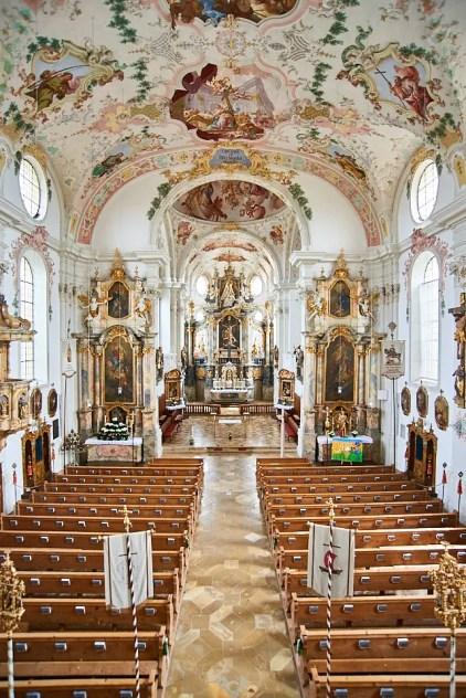 Hochzeitsfotografie in Marktoberdorf, Kirche Sankt Martin