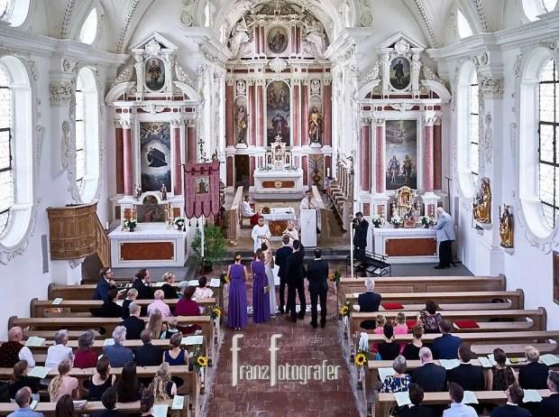 Kirchliche Trauung in St. Coloman in Schwangau