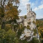 Herbstliche Farben, vorher- nachher Bilder mit/bei der Schloss Lichtenstein