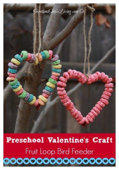 Preschool-Valentine-Crafts-Fruit-Loop-Bird-Feeder
