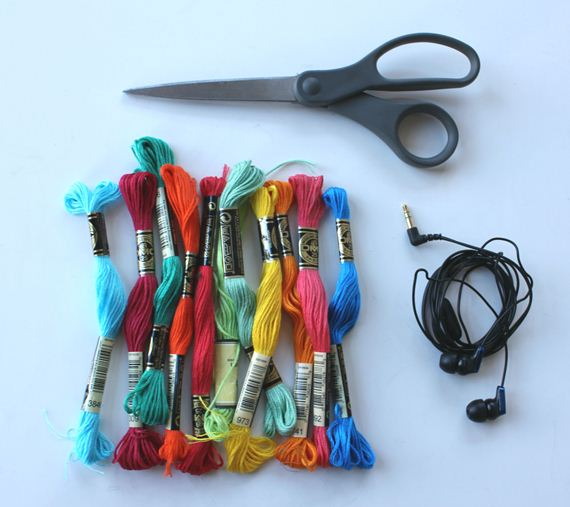 Diy wrapped headphones creative idea