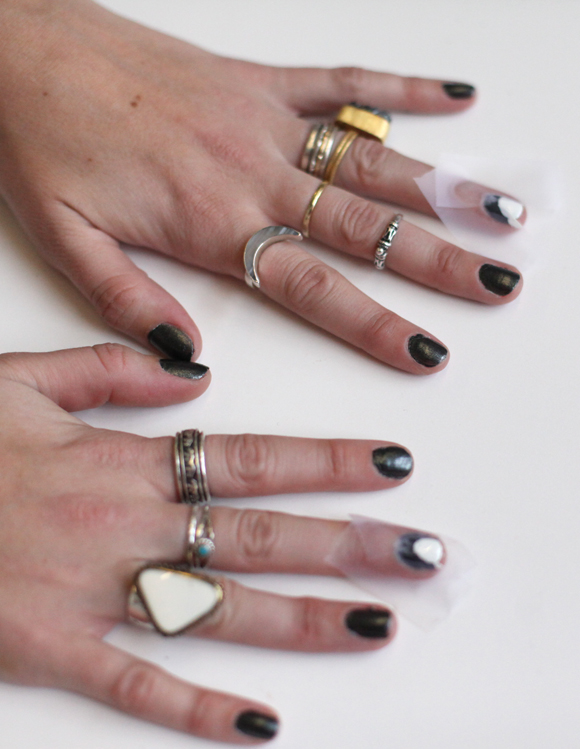 How To Do Chevron Nails