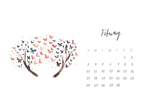 February Calendar Download!