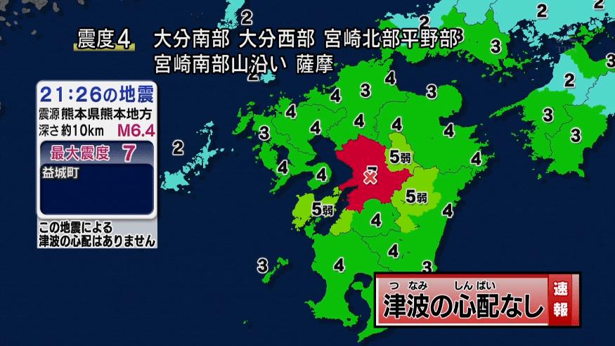 地震震度7熊本