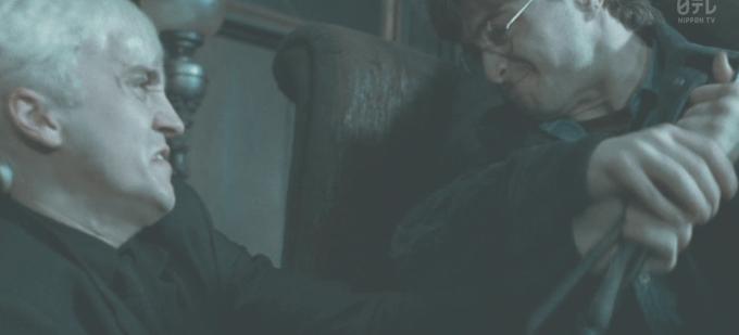 ドラコと戦うハリー