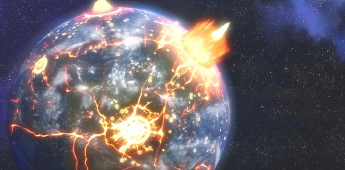 地球が爆発