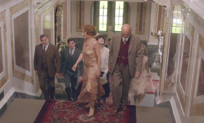 ブランカスター城に招待されるグランサム伯爵家