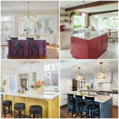 Colored Kitchen Islands How To Add A Pantry Your Freshdirect Why Painted Are Trending From Houzz Colorful