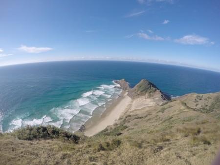 La réunion de la mer de Tasmanie et de l'Océan Pacifique