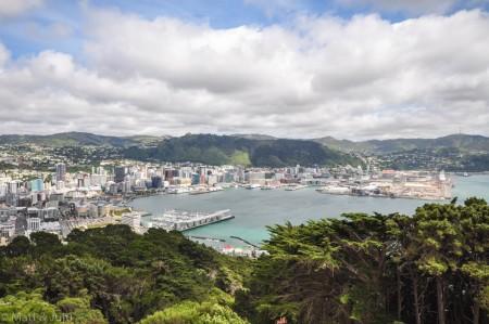 La vue sur Wellington depuis Mt. Victoria