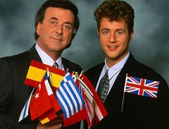 Michael Ball (right) whose hair represented the UK all on it's own....
