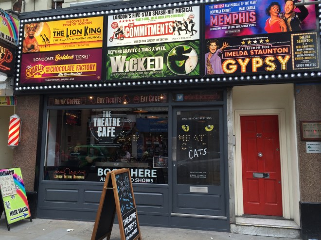 The Theatre Cafe on Shaftesbury Avenue - practically perfect in every way!