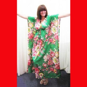 I love the green in my Kaftan, but do you think this plum is too ripe?