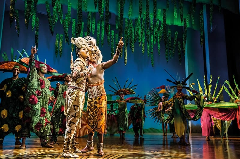 Production photo from The Lion King UK, which offers autism-friendly performances.