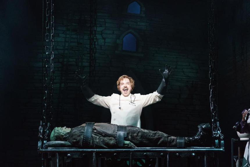 Scene from 'Young Frankenstein' London