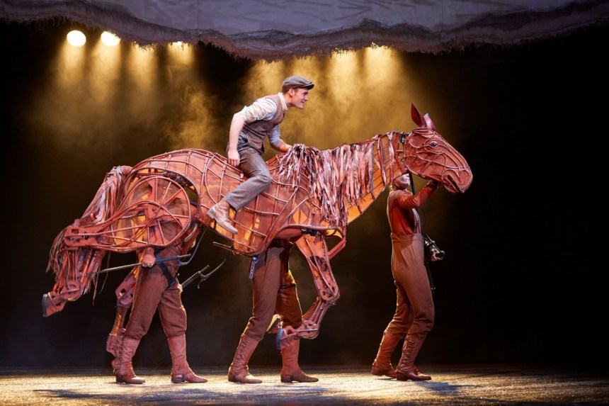 Production still from War Horse at the National Theatre