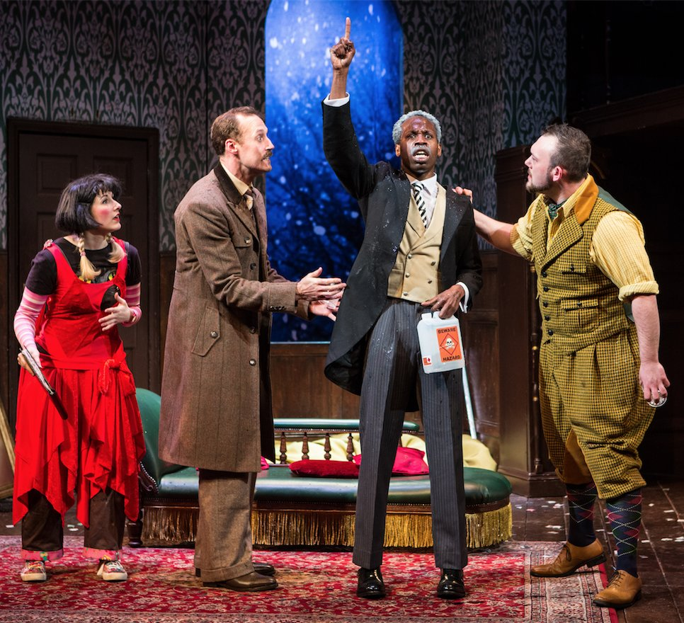 """Production still from """"The Play That Goes Wrong' London"""