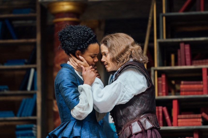 Production photo from Emilia Shakespeare's Globe