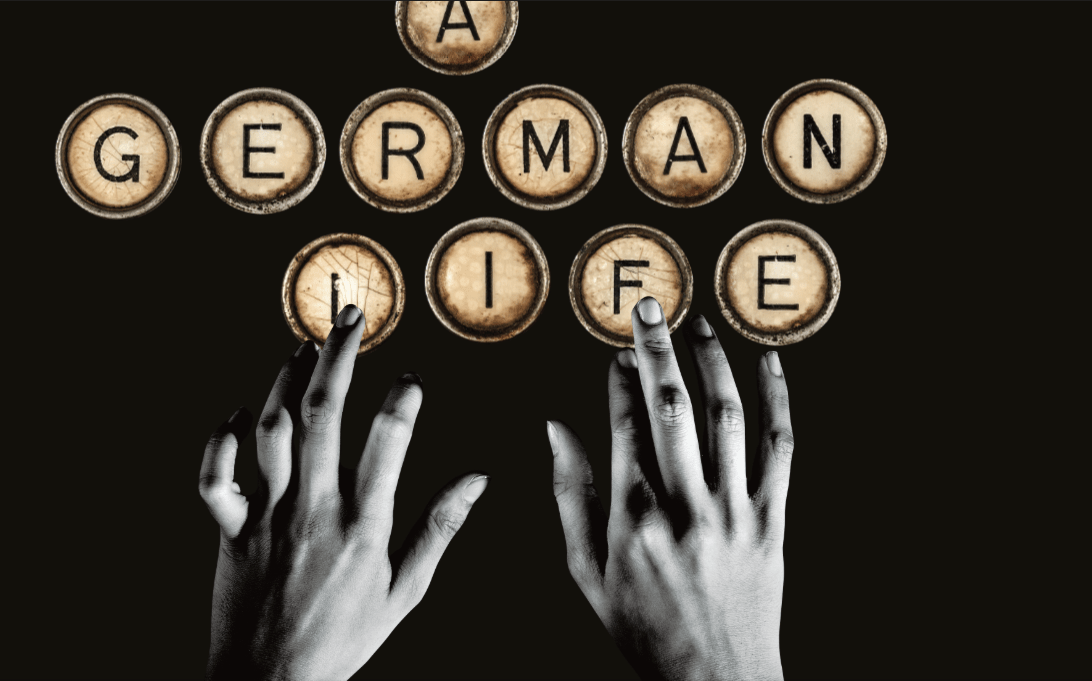 A German Life banner