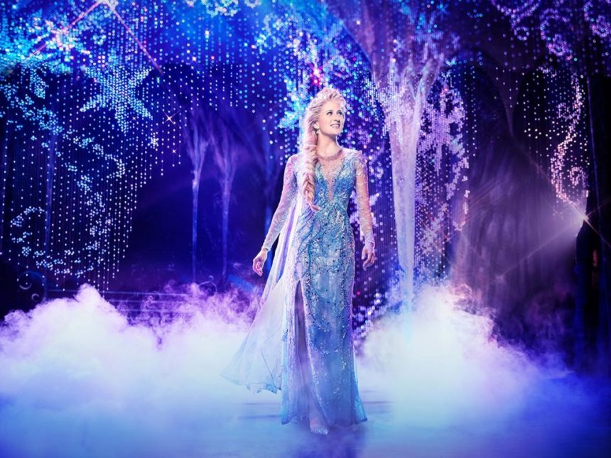 Production still from Frozen Broadway