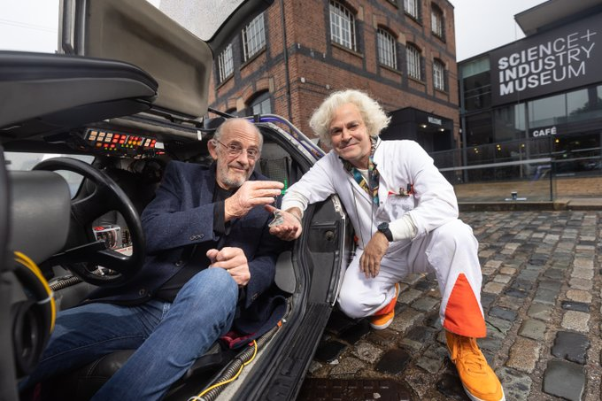 photo of Christopher Lloyd and Roger Bart