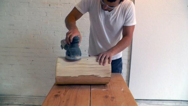 Grinding Log Surface