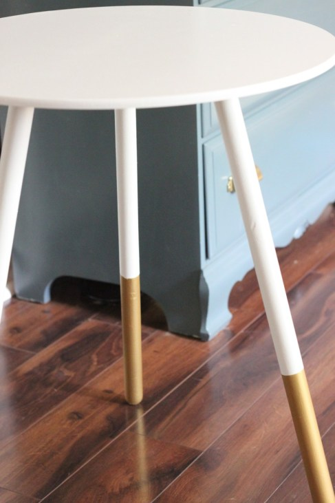 Gold And White End Tables