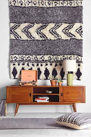Living Room Decorating Ideas - Hang Rug on Wall