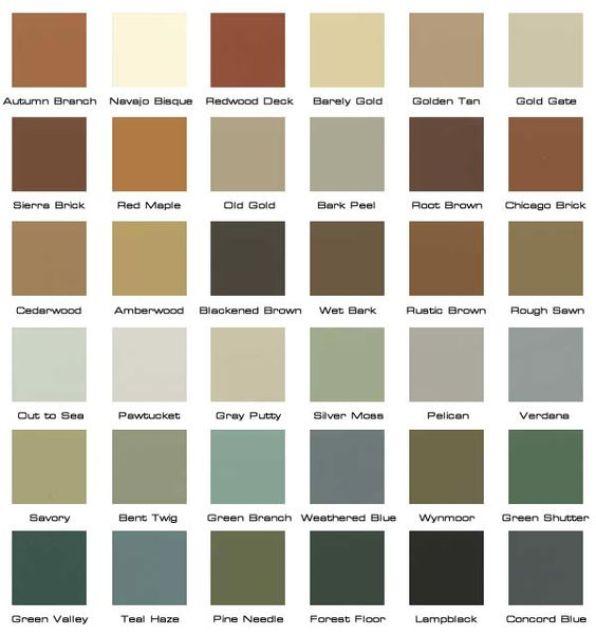 Paleta de colores de estilo industrial