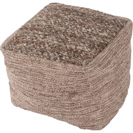 Scandinavia Brown/Gray Pouf