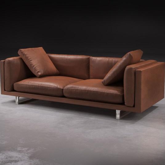 Fulcrum Leather Sofa
