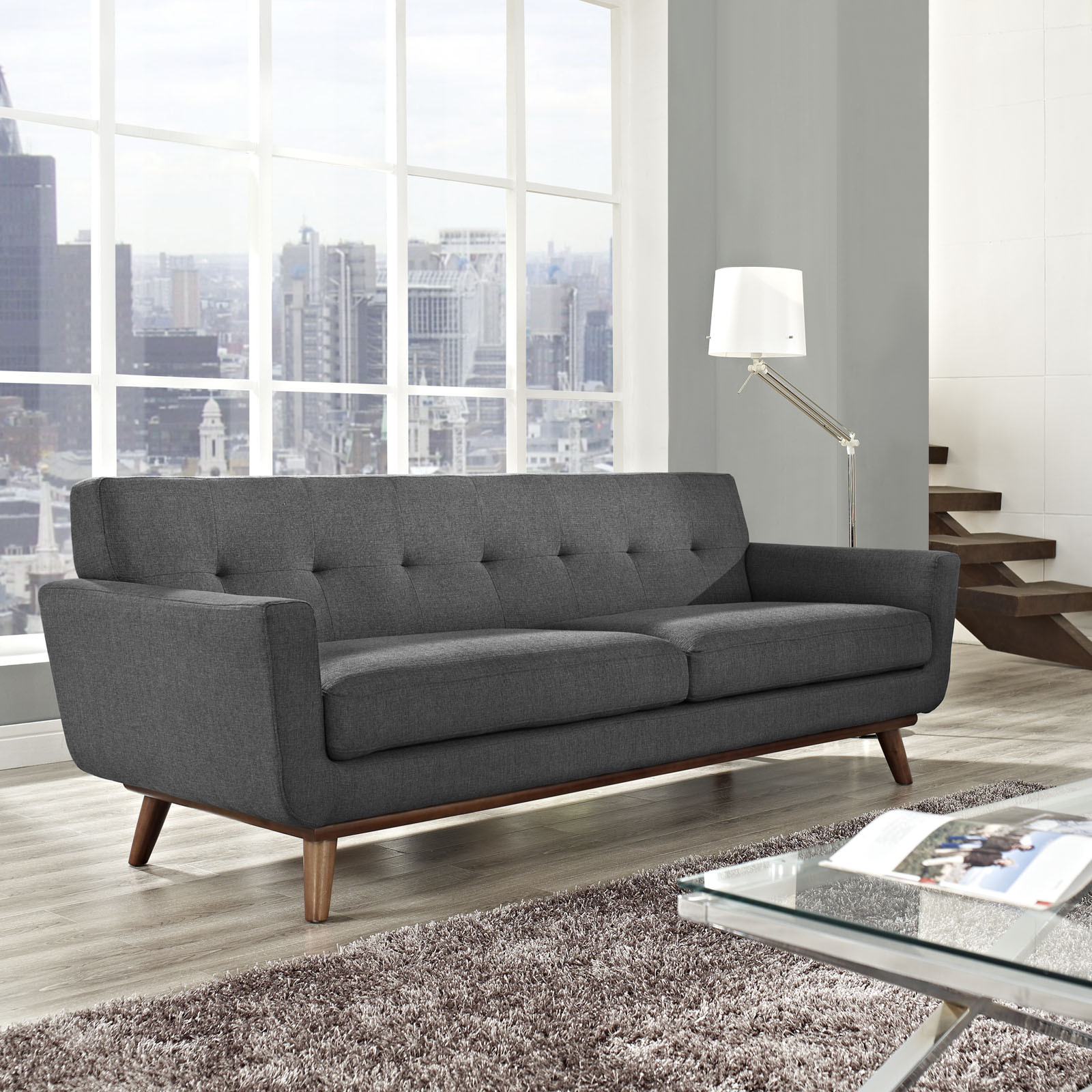 ferguson copeland leather sofa large double clic clac bed 5 couch styles for your living room from boho to industrial