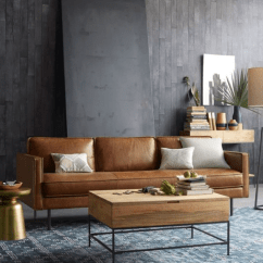 Caramel Colored Leather Sofas Flex Gravel Sleeper Sofa 5 Couch Styles For Your Living Room From Boho To Industrial.