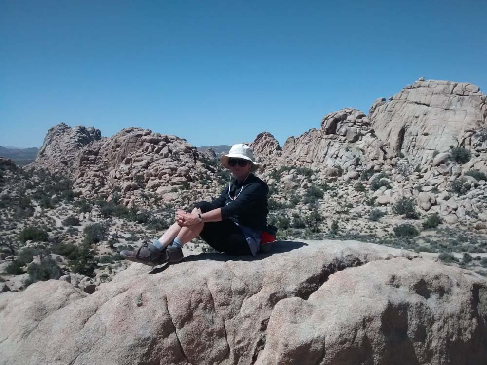 Joshua Tree rock climbing