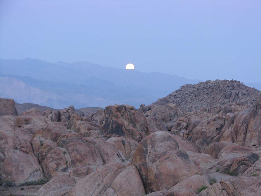 Full Moon over Alabama Hills