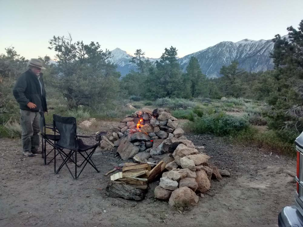 Inyo National Forest dispersed campsite