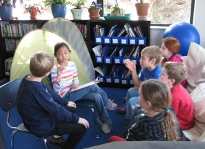 third and fourth graders discuss