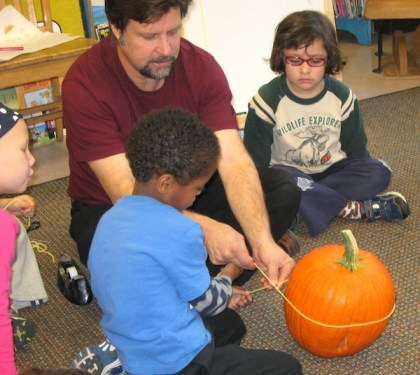 pumpkin math with kindergartners